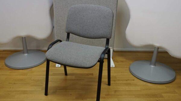 Konferensstol grå och svart #3045 - Stockholms Kontorsmöbler