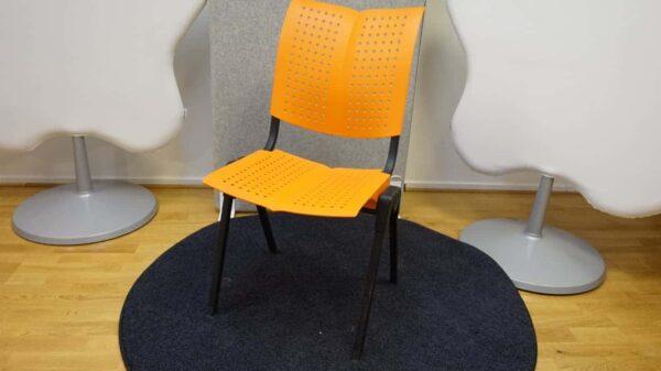 Konferensstol - Orange och svart - HÅG Conventio #3030 - Stockholms Kontorsmöbler