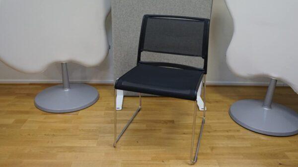 Konferensstol Svart och Krom #3080 - Stockholms Kontorsmöbler