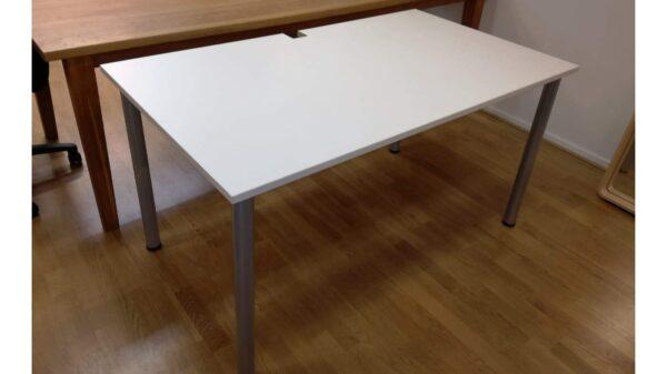 Skrivbord begagnat vit skiva #2020 - Stockholms Kontorsmöbler