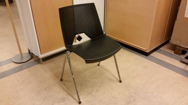 Konferensstol svart, lounge #3014 - Stockholms Kontorsmöbler