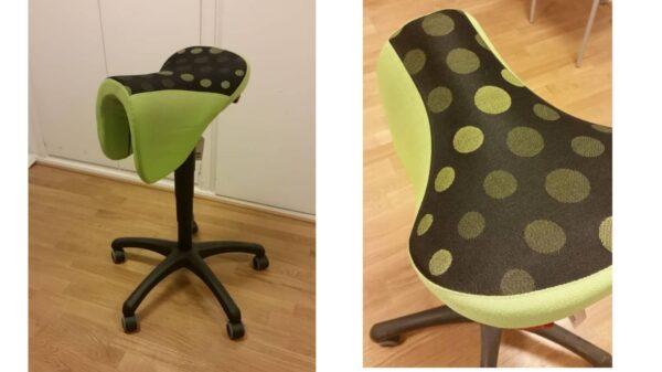 Frapett ståstol grön #1097 - Stockholms Kontorsmöbler