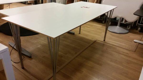 Vitt lunchbord #4014 - Stockholms Kontorsmöbler