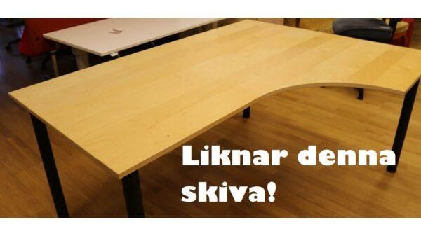 Skrivbord höger böjd #4027 - Stockholms Kontorsmöbler
