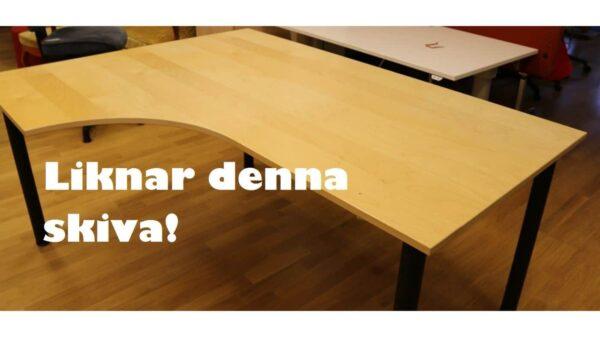 Skrivbord med vänster böj #4030 - Stockholms Kontorsmöbler