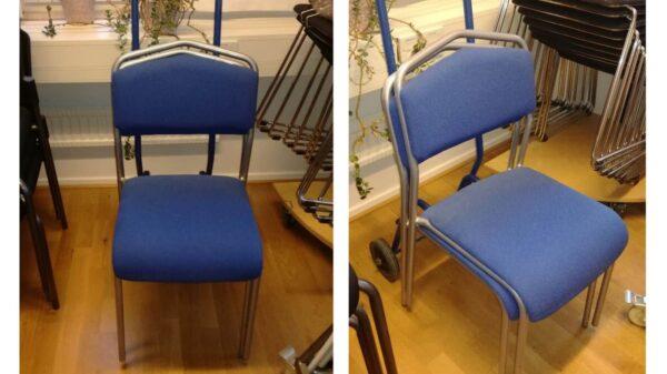 Konferensstol i blått #3021 - Stockholms Kontorsmöbler