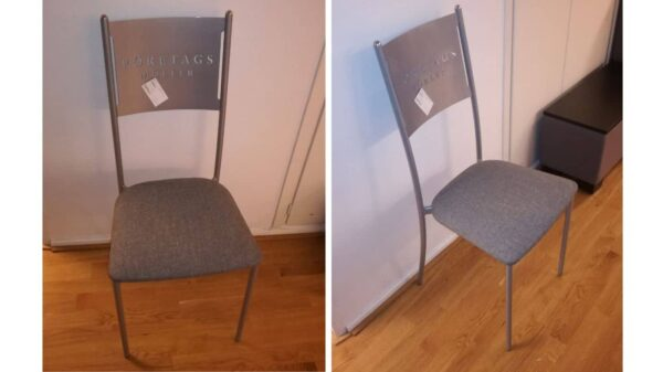 Konferensstol metall och grå #3031 - Stockholms Kontorsmöbler