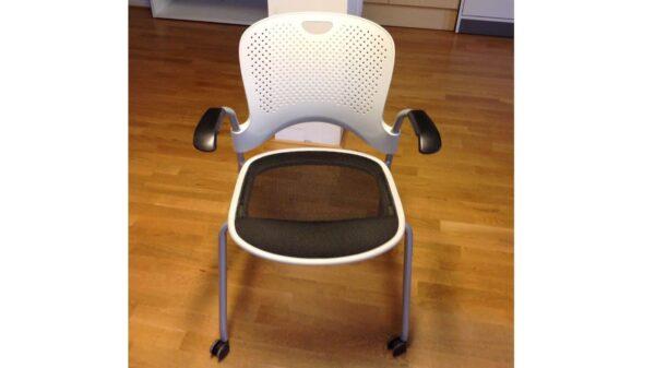Konferensstol Wilkhan grå på hjul #3017 - Stockholms Kontorsmöbler