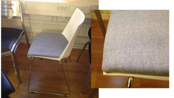 Konferensstol Märke Strike vit och grå #3041 - Stockholms Kontorsmöbler