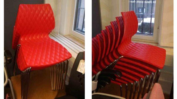 Konferensstol i härligt rött #3019 - Stockholms Kontorsmöbler