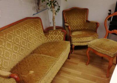 Gammeldags soffa, fåtölj och stol  #8013