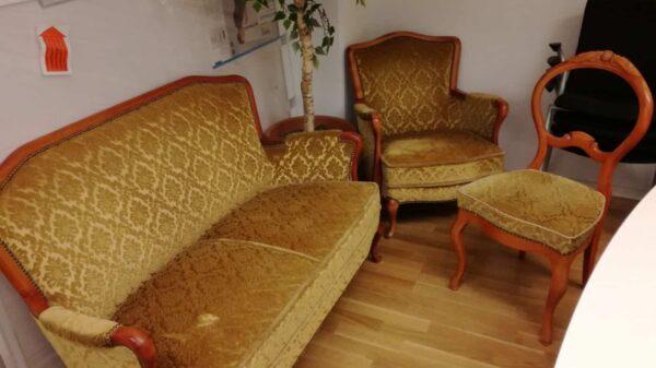 Gammeldags soffa, fåtölj och stol #8013 - Stockholms Kontorsmöbler
