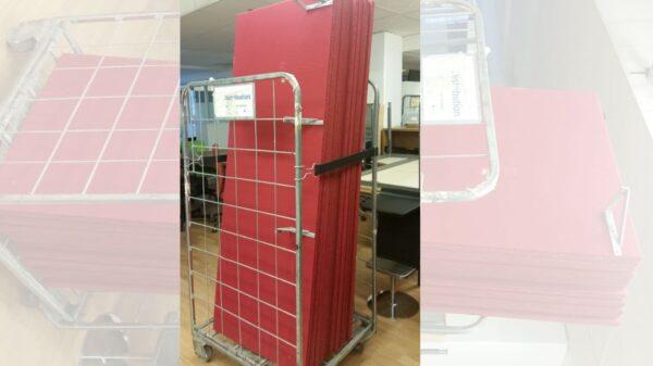 Bordsskärm / Bullerdämpande röd #8001 - Stockholms Kontorsmöbler